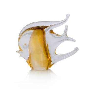 Декоративная фигурка тропической рыбы золотая