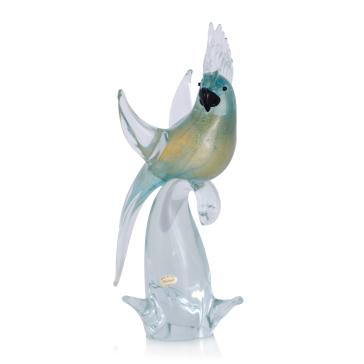 Статуэтка попугай на ветке из муранского стекла