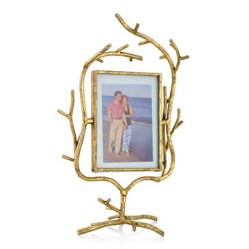 Двусторонняя рамка для фотографий Caruana (золотая)