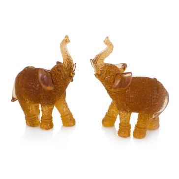 Декоративные слоники Amber Duo, набор из 2-х шт.
