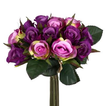 Букет из фиолетово-розовых розочек