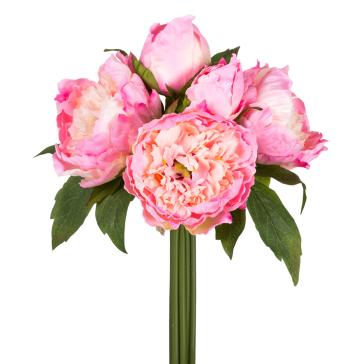Букет из пионов темно-розовый