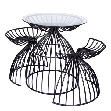 Стол со стеклянной столешницей и 2 стула Kioto