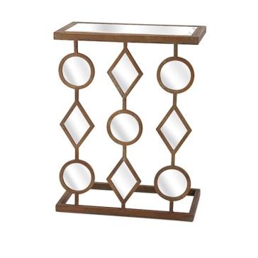 Декоративная консоль с зеркальными элементами Halpen